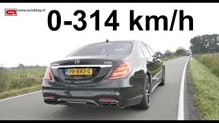 Mercedes-AMG S63: 0 - 314 km/h (195 mph) TOP SPEED!