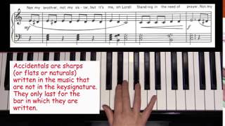 Learn Piano Fast 22 - Standing in the Need of Prayer