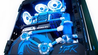 ULTIMATE $5000 Giveaway Custom Water Cooled Gaming PC Build - RTX i9 9900k CRAZY Time Lapse