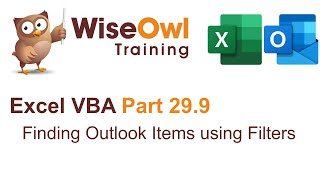 Excel VBA Introduction Part 29.9 - Finding Outlook Emails using Filters