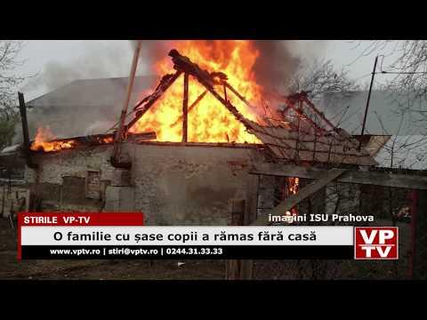 O familie cu șase copii a rămas fără casă