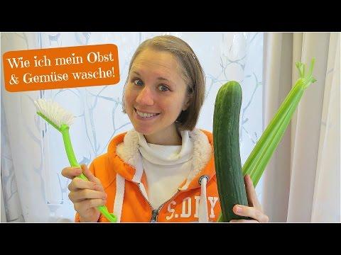 Wie ich mein Obst und Gemüse wasche!