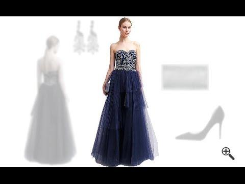 Blaues Abendkleid in Langkombinieren + 3Blaue Outfits für Doreen