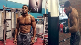 Anthony Joshua training 2017 for Klitschko