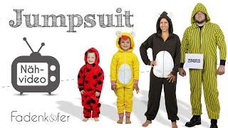 Jumpsuit/Onesie/Faschingsoverall für Damen, Herren und Kinder selber nähen