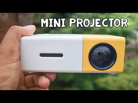 Cheap Pocket Projector for Fun - Mini LED Projector Review & Demo (YG-300)