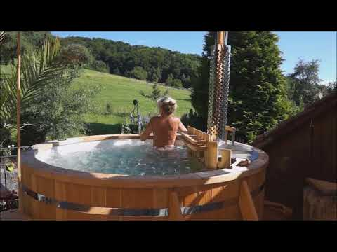 TimberIN wood fired hot tub - badetonne mir Holzofen - bain nordique