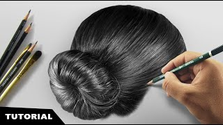 How I Draw Realistic Hair | Tutorial for BEGINNERS.