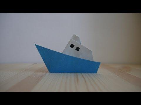 Оригами. Как сделать кораблик из бумаги (видео урок)