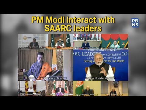 PM Modi interact with SAARC leaders