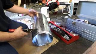 Diy how to tap 6 inch round duct into 8 inch round duct