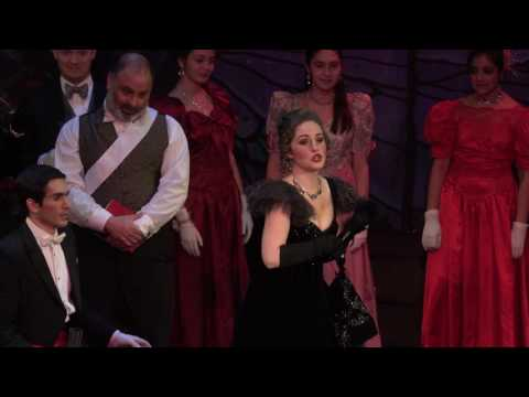 """Amore Opera's """"Die Fledermaus"""" Jean Baptiste Theater, NYC Haley Marie Vick as Adele New Years Eve 2016 Video by Jay Gould"""