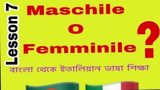 7.Bangla To Italian Language 9th Lessons (maschile O Femminile)
