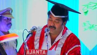 Thanks speech by Mammootty, Kerala University