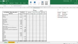 Setting up an Extended trial balance Video demonstration