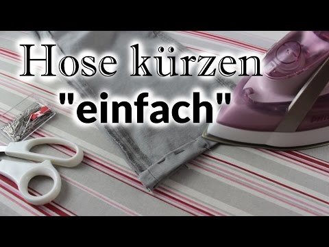 Hose kürzen - einfach (ohne Originalsaum) [Do it yourself]