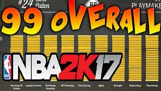 NBA 2K17 Tips - FASTEST WAY TO GET 99 OVERALL - INSTANT ATTRIBUTE TIP!