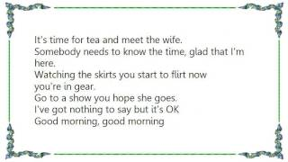 Cheap Trick - Good Morning Good Morning DVD Lyrics