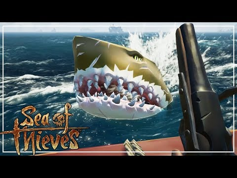 Fighting The Megalodons - Sea of Thieves