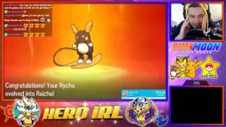 SHINY PIKACHU USING SOS METHOD IN SUN/MOON! SHINY ALOLAN RAICHU HYPE! - Pokemon Sun/Moon