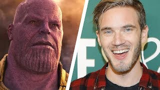 Pewdiepie vs Thanos, WHO would WIN? (Vote)