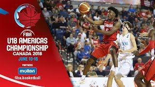 Argentina v Canada - Group Phase - Full Game (ESP) - FIBA U18 Americas Championship 2018