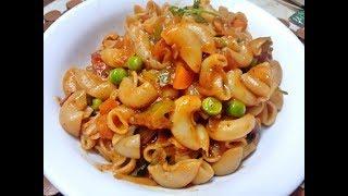 Macaroni Recipe in Tamil Vegetable Macaroni Pasta Recipe In Tamil Pasta Recipes Bashas Kitchen