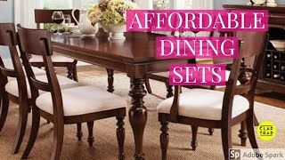 AFFORDABLE DINING SETS | DINING TABLE AND CHAIRS