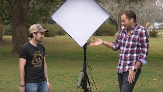 Lighting An Outdoor Portrait With An LED Panel