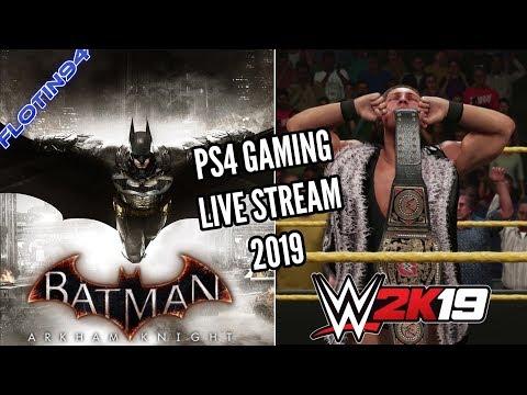 Herní Live Stream 2019 - WWE 2K19 & Batman Arkham Knight