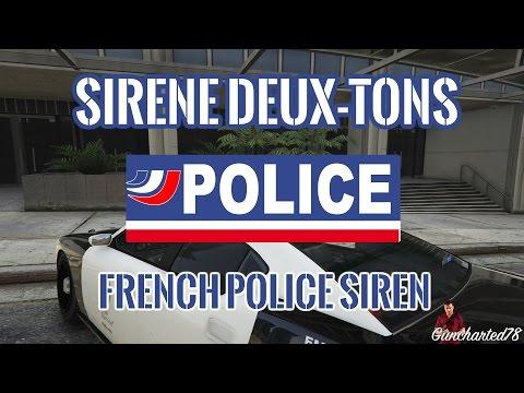 sir ne deux tons police french police siren gta5. Black Bedroom Furniture Sets. Home Design Ideas