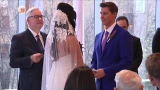 Groom Becomes A Show Stopper In Blue Suit