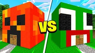 MINECRAFT PRESTONPLAYZ HOUSE vs UNSPEAKABLE HOUSE!