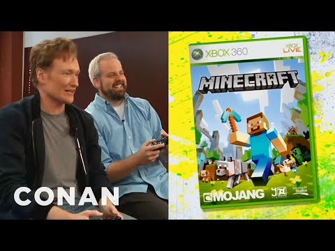 """Conan O'Brien Reviews """"Minecraft"""" for XBox 360 – Clueless Gamer – CONAN on TBS"""
