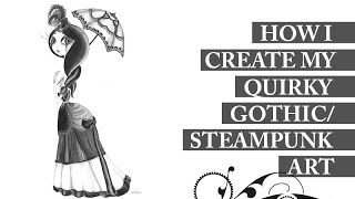 How I Create My Quirky Gothic Art | Nicola Milan