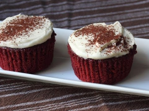 Red Velvet Cupcakes Recipe – How to Make Red Velvet Cupcakes with Cream Cheese Frosting