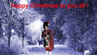 Little Drummer Boy Christmas Carol with Scottish Bagpipes