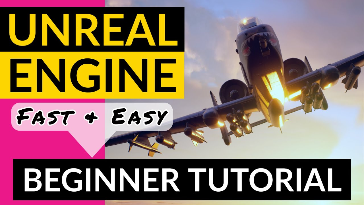 UE4 Unreal Engine Beginner Tutorial - Get Started Fast & Easy using UE5 and Creating Your First Game