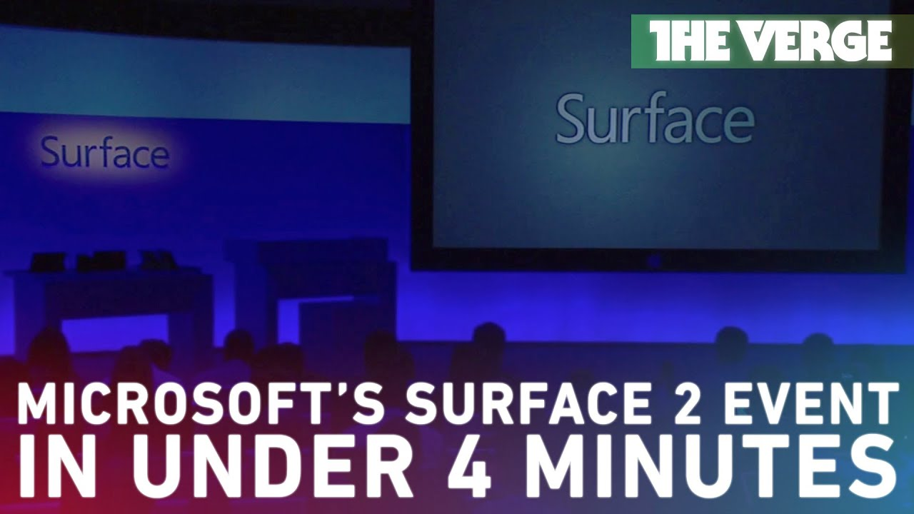 Microsoft's Surface event in under 4 minutes thumbnail