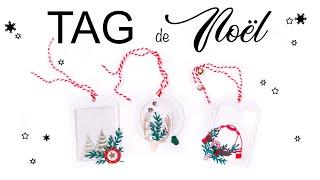TUTO SCRAPBOOKING Tag De NOEL - CHRISTMAS TAG | LYDILLE |