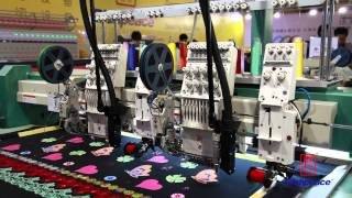 Richpeace Mixed Coiling Embroidery Machine equipped with Laser Device