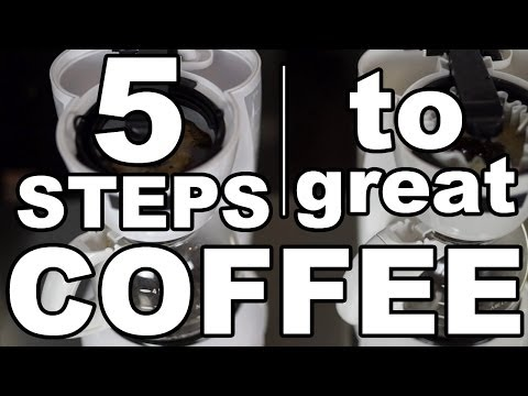 5 Steps to Brewing Great Coffee at Home