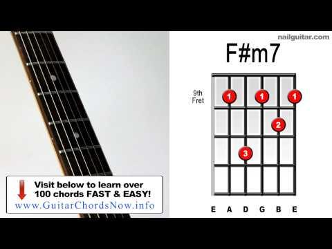 F#m7 ♫♬ Guitar Chord Tutorial - Learn Bar Chords Super Easy Lesson