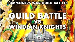 SUMMONERS WAR : Guild Battle Vs Windian Knights (Eshir, Teshar + More)
