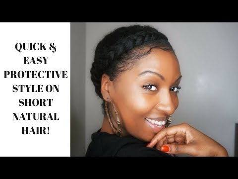 QUICK & EASY PROTECTIVE STYLE ON SHORT NATURAL HAIR!