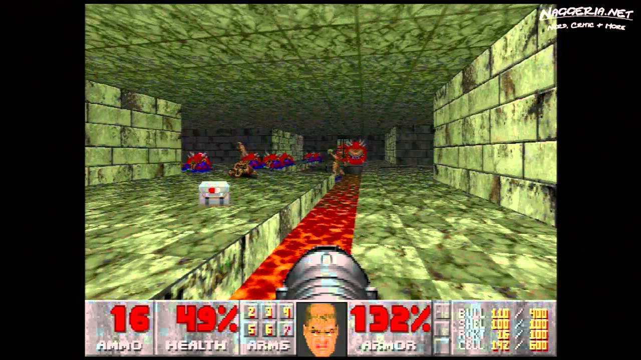 "Doom (E2M9 ""Fortress of Mystery"") Walkthrough – Ultra-Violence"