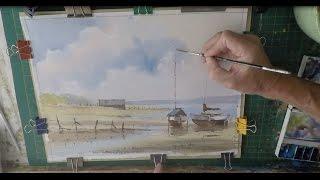 Paint Sailing Boats At Low Water Using 3 Colours Only