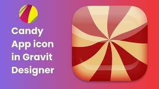 App Icon Design In Gravit Designer. How To Design A Stylish Candy Icon In  Gravit