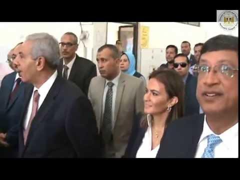 الوزير/طارق قابيل يفتتح معامل الغزل والنسيج والتريكو والصباغة بمركز التدريب المهنى بشبرا الخيمة