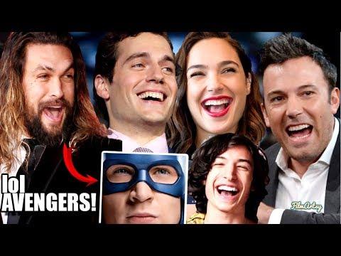 Justice League Cast Continuously Trolls Avengers - Hilarious Trash Talk😂😂